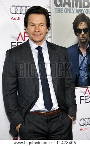 Mark Wahlberg at the AFI FEST 2014 Gala Premiere of 'The Gambler' held at the Dolby Theatre in Los Angeles on November 11, 2014 in Los Angeles, California.
