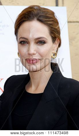 Angelina Jolie at the American Cinematheque's 69th Annual Golden Globe Awards Foreign-Language Nominee Event held at the Egyptian Theater on January 15, 2012.