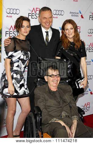 Wash Westmoreland, Julianne Moore and Kristen Stewart at the AFI FEST 2014 Special Screening Of 'Still Alice' held at the Dolby Theatre in Los Angeles on November 12, 2014 in Los Angeles, California.