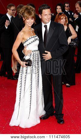Jennifer Love Hewitt and Ross McCall  at the 60th Primetime EMMY Awards held at the Nokia Theater in Los Angeles, California, United States on September 21, 2008.