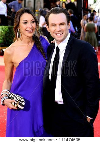 Christian Slater at the 60th Primetime EMMY Awards held at the Nokia Theater in Los Angeles, California, United States on September 21, 2008.