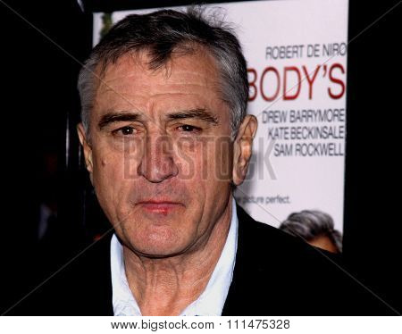 Robert De Niro at the AFI FEST 2009 Screening of 'Everbody's Fine' held at the Grauman's Chinese Theatre in Hollywood on November 3, 2009.