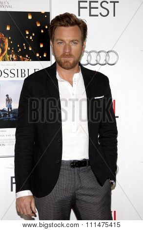 Ewan McGregor at the AFI FEST 2012 Special Screening of 'The Impossible' held at the Grauman's Chinese Theatre in Hollywood on November 4, 2012.