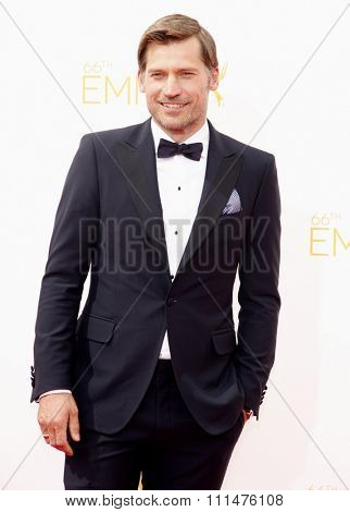 Nikolaj Coster-Waldau at the 66th Annual Primetime Emmy Awards held at the Nokia Theatre L.A. Live in Los Angeles on August 25, 2014 in Los Angeles, California.