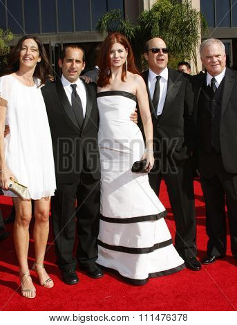 Debra Messing and 'Starter Wife' cast attend the 59th Annual Primetime Emmy Awards held at the Shrine Auditorium in Los Angeles, California, United States on September 16, 2007.