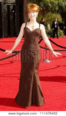 Kathy Griffin attends the 59th Annual Primetime Emmy Awards held at the Shrine Auditorium in Los Angeles, California, United States on September 16, 2007.
