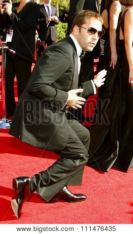 Jeremy Piven attends the 59th Annual Primetime Emmy Awards held at the Shrine Auditorium in Los Angeles, California, United States on September 16, 2007.
