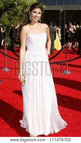Jamie-Lynn Sigler attends the 59th Annual Primetime Emmy Awards held at the Shrine Auditorium in Los Angeles, California, United States on September 16, 2007.