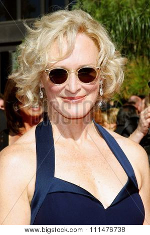 Glenn Close attends the 59th Annual Primetime Emmy Awards held at the Shrine Auditorium in Los Angeles, California, United States on September 16, 2007.