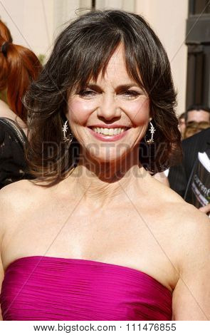 Sally Field attends the 59th Annual Primetime Emmy Awards held at the Shrine Auditorium in Los Angeles, California, United States on September 16, 2007.