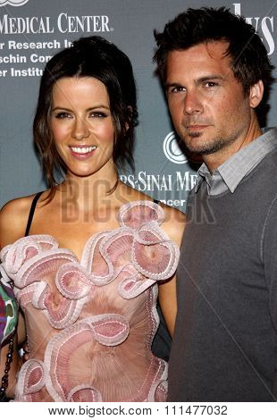 Kate Beckinsale and Len Wiseman at the 4th Annual Pink Party held at the Hangar 8 in Santa Monica on September 13, 2008.