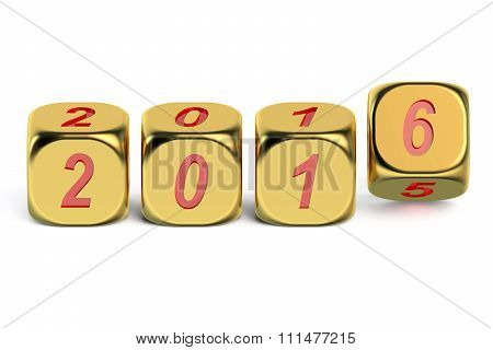 Happy New Year 2016 Concept On Dices