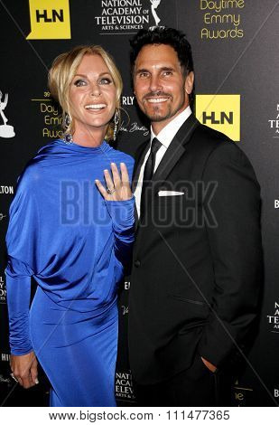 Cindy Ambuehl and Don Diamont at the 39th Annual Daytime Emmy Awards held at the Beverly Hilton Hotel in Beverly Hills on June 23, 2012.
