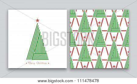 Christmas Tree In Line Art 02