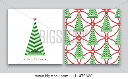Christmas Tree In Line Art 04