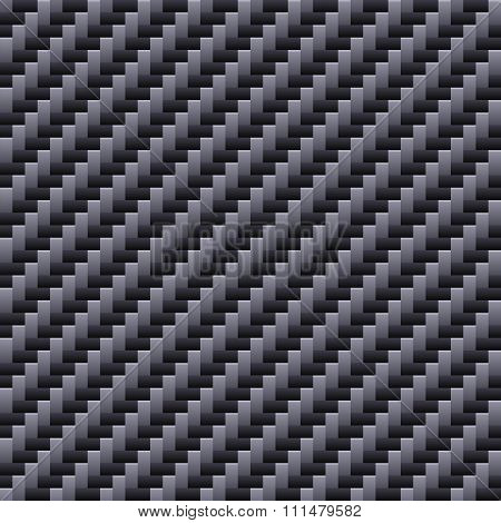 Carbon Seamless Fiber Background. Vector
