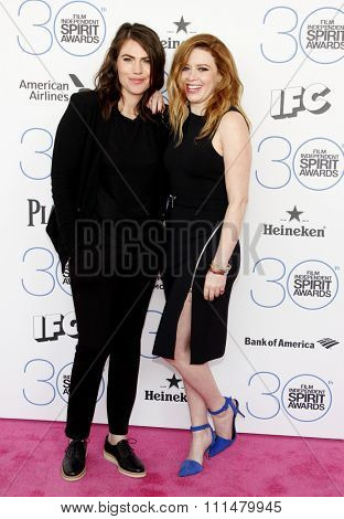 Natasha Lyonne and Clea DuVall at the 2015 Film Independent Spirit Awards held at the Santa Monica Beach in Santa Monica on February 21, 2015.
