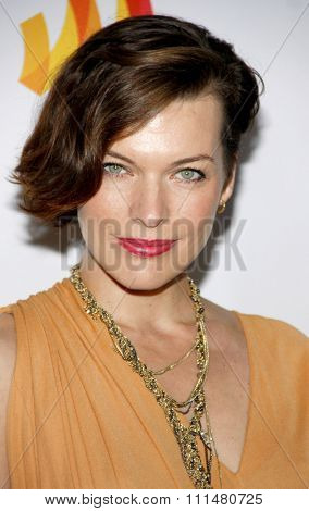 Milla Jovovich at the 23rd Annual GLAAD Media Awards held at the Westin Bonaventure Hotel in Los Angeles on April 21, 2012.