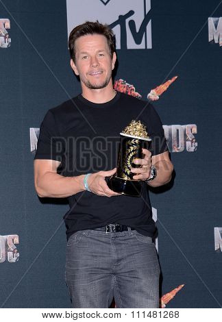 Mark Wahlberg at the 2014 MTV Movie Awards - Press Room held at the Nokia Theatre L.A. Live in Los Angeles on April 13, 2014 in Los Angeles, California.