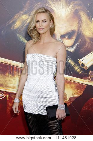 Charlize Theron at the Los Angeles premiere of 'Mad Max: Fury Road' held at the TCL Chinese Theatre IMAX in Hollywood, USA on May 7, 2015.