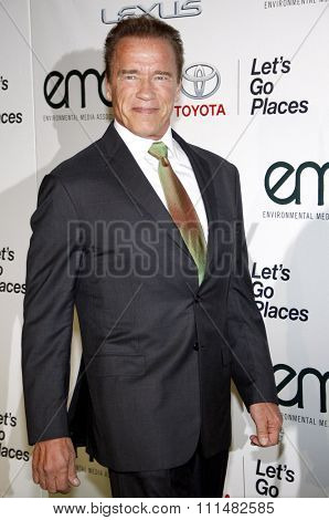 Arnold Schwarzenegger at the 2014 Environmental Media Awards held at the Warner Bros. Studios Lot in Los Angeles on October 18, 2014 in Los Angeles, California.