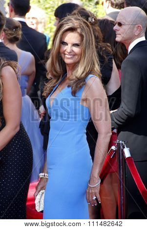 Maria Shriver at the 2014 Creative Arts Emmy Awards held at the Nokia Theatre L.A. Live in Los Angeles, United States, 160814.