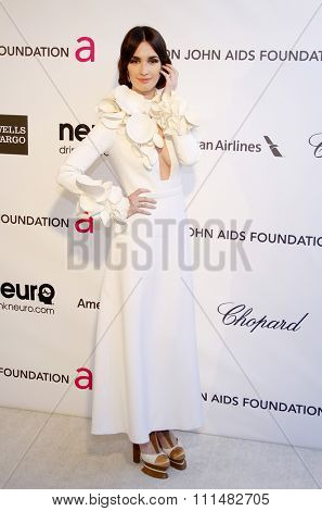 Paz Vega at the 21st Annual Elton John AIDS Foundation Academy Awards Viewing Party held at the Pacific Design Center in West Hollywood on February 24, 2013.