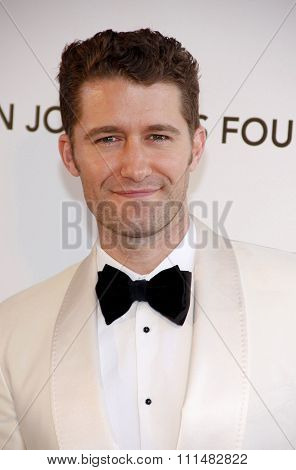 Matthew Morrison at the 21st Annual Elton John AIDS Foundation Academy Awards Viewing Party held at the Pacific Design Center in West Hollywood on February 24, 2013.