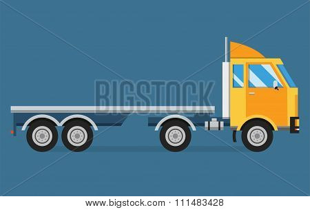 Delivery vector transport truck van and gift box pack