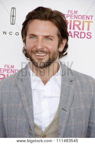 Bradley Cooper at the 2013 Film Independent Spirit Awards held at the Santa Monica Beach in Los Angeles, United States, 230213.