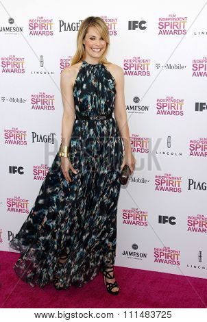 Leslie Bibb at the 2013 Film Independent Spirit Awards held at the Santa Monica Beach in Los Angeles, United States, 230213.