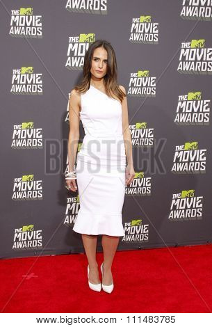 Jordana Brewster at the 2013 MTV Movie Awards held at the Sony Pictures Studios in Los Angeles, United States, 140413.