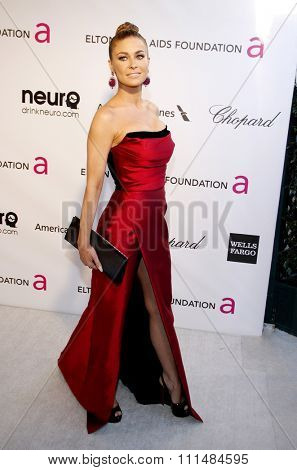 Carmen Electra at the 21st Annual Elton John AIDS Foundation Academy Awards Viewing Party held at the Pacific Design Center in West Hollywood on February 24, 2013.