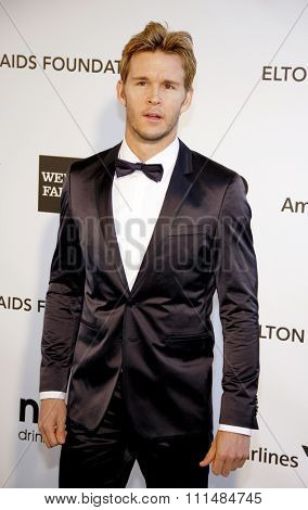 Ryan Kwanten at the 21st Annual Elton John AIDS Foundation Academy Awards Viewing Party held at the Pacific Design Center in West Hollywood on February 24, 2013.