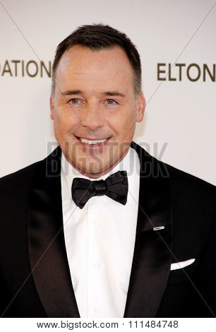 David Furnish at the 21st Annual Elton John AIDS Foundation Academy Awards Viewing Party held at the Pacific Design Center in West Hollywood on February 24, 2013.