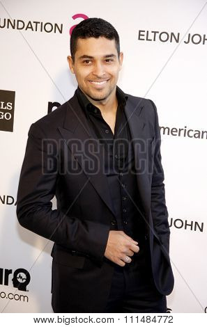 Wilmer Valderrama at the 21st Annual Elton John AIDS Foundation Academy Awards Viewing Party held at the Pacific Design Center in West Hollywood on February 24, 2013.
