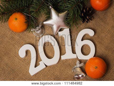 Tag 2016, Mandarines, Fir-cones, Christmas Decorations