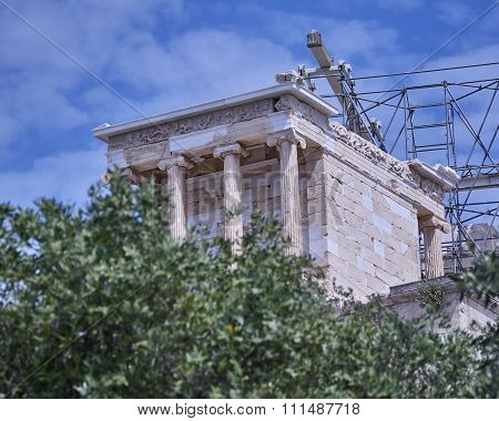 Athena Victorious temple on Acropolis hill, Athens Greece