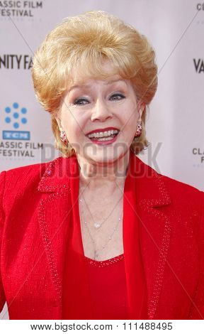 Debbie Reynolds at the 2012 TCM Classic Film Festival Gala Screening of 'Cabaret' held at the Grauman's Chinese Theater in Hollywood on April 12, 2012.