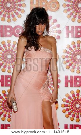 Paz de la Huerta at the 2011 HBO's Post Emmy Awards Reception held at the Pacific Design Center in West Hollywood on September 18, 2011.