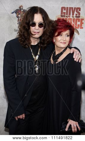 Ozzy Osbourne and Sharon Osbourne at the 2010 Spike TV's Guys Choice Awards held at the Sony Pictures Studios in Culver City on June 5, 2010.
