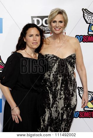 Lara Embry and Jane Lynch at the 2011 Do Something Awards held at the Hollywood Palladium in Hollywood on August 14, 2011.