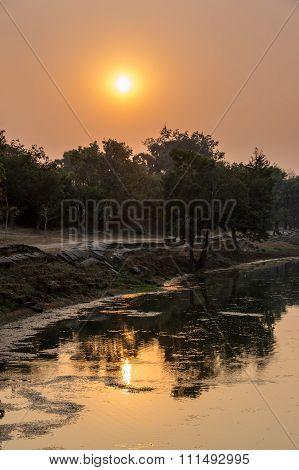 Srah Srang At Sunset