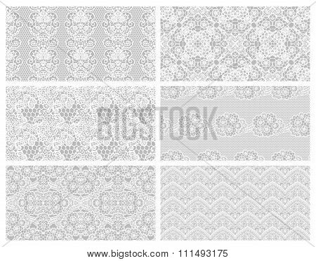 Set of lacy patterns.