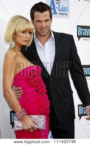 Paris Hilton and Doug Reinhardt at the 2009 Bravo's A-List Awards held at the Orpheum Theatre in Los Angeles on April 5, 2009.