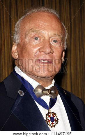 Buzz Aldrin at the 11th Annual Living Legends Of Aviation Awards held at the Beverly Hilton Hotel in Los Angeles on January 17, 2014 in Los Angeles, California.