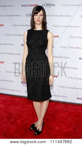 Rebecca Hall at the Los Angeles premiere of 'Vicky Cristina Barcelona' held at the Mann Village Theatre in Westwood on August 4, 2008.
