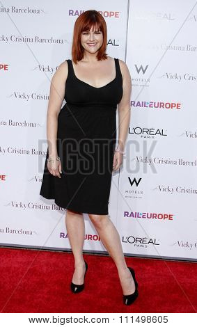 Sara Rue at the Los Angeles premiere of 'Vicky Cristina Barcelona' held at the Mann Village Theatre in Westwood on August 4, 2008.