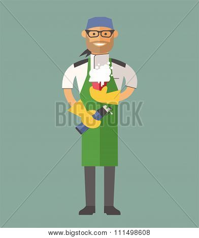 Vector cooking chef vector illustration