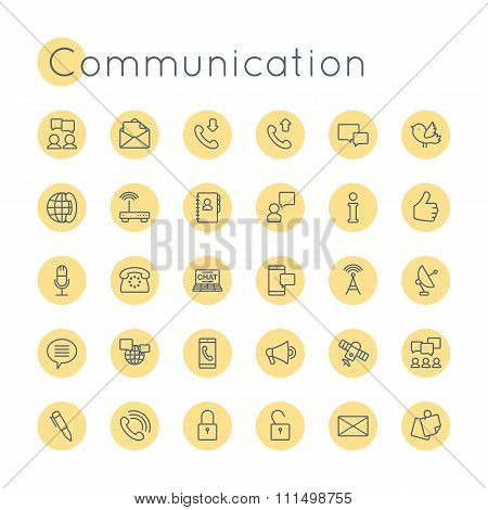 Vector Round Communication Icons